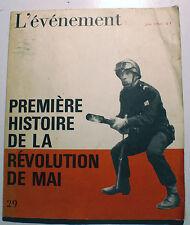 MAI 68/PREMIERE HISTOIRE DE LA REVOLUTION DE MAI/JUIN 1968/REVUE L'EVENEMENT/