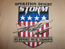 Vintage 90's Operation Desert Storm 'Support Our Troops Military 1991 T Shirt L