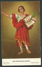 Estampa antigua de San Pancracio andachtsbild santino holy card santini