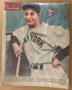 Police Gazette Original Vintage Poster Lou Gehrig New York Yankees Baseball MLB