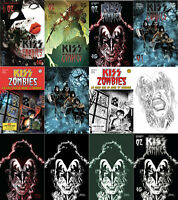 Kiss Zombies #2 A B C D 1:7 1:10 1:11 1:15 1:20 1:21 1:25 1:30 All Covers