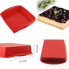 Square Silicone Cake Molds Chocolate Candy Fondant Barking Mould Bakeware Pan