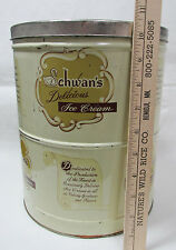 Vintage Schwans Ice Cream Tin Metal Container With Cover 2 1/2 Gal Size Minn