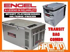 ENGEL MT60FP - 60 LITRE FRIDGE FREEZER DIGITAL PLATINUM SERIES TRANSIT BAG COMBO