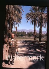 1972 Kodachrome photo slide Man with camera  two of them #1
