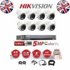 Hikvision CCTV 4K DVR 5MP ColorVu Turret Camera DS-2CE72HFT-F IP67 20M System UK
