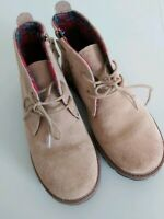NEXT size 13 Boys Camel beige brown lace up boots autumn winter smart casual