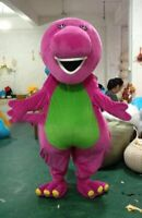 Cute Purple Barney Mascot Costume Suit Cosplay Party Game Dress Outfit  Adult 1P