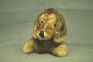 "vintage old mohair stuffed animal puppy dog hotdog dachshund 8"""