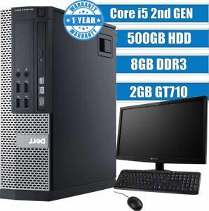 SUPER FAST GAMING PC BUNDLE i5 COMPUTER DELL/HP WiFi HDMI 8GB 500GB GT710 ✅