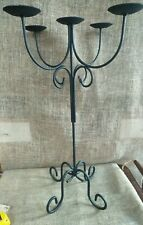 Wrought Iron Floor Black Candelabra