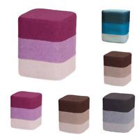Keraiz® Vow Colourful Retro Design Sturdy Cotton Fabric Footstool Square Pouffe