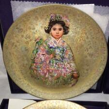 "Edna Hibel ""Sakura"" # 478 Plate. With Original Box and Authenticity Certificate."
