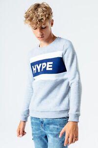 Hype Kids Block Crew Neck Sweat - Grey