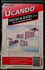 Fences & Gates 9 Designs UCANDO Nat'l Plan Serv B2032 Vintage DIY