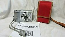 Canon PowerShot A1100 IS 12.1MP Digital Camera - Gray w/ Manual & Case