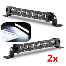 "2x 8"" 18W LED Spot Work Light Bar Waterproof Car SUV ATV Off Road Lamp Universal"