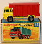 DTE LESNEY MATCHBOX TRANS SUPERFAST 44-A HTF YELLOW/RED REFIGERATOR TRUCK BOXED