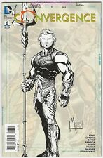 Convergence #6 Of(8) Aquaman Sketch Variant Cover 1:100 Comic Book New 1