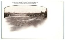 Early 1900s St. Anthony Falls from Burlington Trains on Stone Arch Bridge, MN