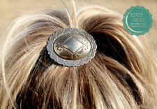 Cowgirl Consuela Metal Concho Ponytail Tie Country Cowgirl Rustic Boho Style