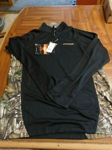 RealTree Xtra 1/4 Zip Pullover Long Sleeve  X-L Polyester Black Green Camo New