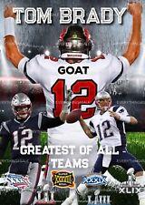 Tom Brady GOAT (Greatest Of All Teams) Digital Wall Art 11 x 14 - ONE OF A KIND