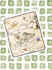 Disney Winnie The Pooh Fleece Blanket Hundred Acre Wood Map Tapestry Throw Baby