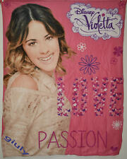 Plaid Pile Coperta VIOLETTA LOVE DISNEY cm.120x150  bambina ragazza idea regalo