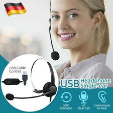 USB Computer Headset Telefon Kopfhörer Stereo mit Mikrofon für Windows PC Laptop