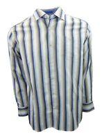 New Mens Tommy Bahama Long Sleeve Brown Striped Shirt Medium Cotton Blend Sample