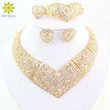 Fashion Women GP Necklace Set Dubai Bridal Wedding Party Jewelry Sets Gift