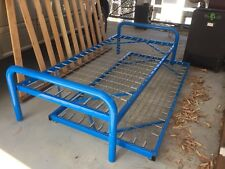 Blue Single Bed And Trundle