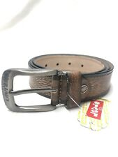 Mens Brown Levis  Leather Belt Size 40 To 44 Waist Nw (dv0154)