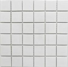 Mosaico ceramica bianco lucido tegola per muro e suolo: 16B-0101_b |1 foglio
