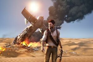 Uncharted Nathan Drake Poster 24X36 inches