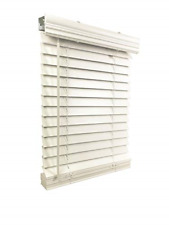 "Us Window And Floor 2"" Faux Wood 35"" W x 60"" H, Inside Mount Cordless Blinds, 35"