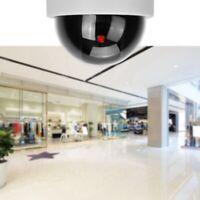 Videocamera Di Sorveglianza Fotocamera Dome Falsa Con Luce LED Rossa Durevole.