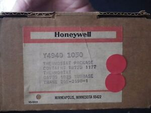 HONEYWELL Y 494 D 1050 THERMOSTAT PACKAGE CONTAINS T872D 1177 THERMOSTAT NEW
