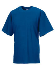 RUSSELL MEN'S T-SHIRT SOFT COTTON TOP QUALITY TEE LOOSE SLEEVE WORKWEAR S-4XL