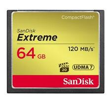 SanDisk Extreme 64 GB 64g Compact Flash Card CF 120mb/s 800x UDMA 7