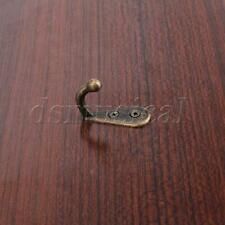 5 Pcs Thick Antique Bronze Coat Hook Wall Door Hanger Hat Bag Robe Alloy Hooks