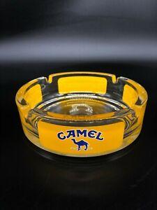 "großer ""CAMEL"" Zigaretten Aschenbecher aus Glas ø ca. 14,5 cm"