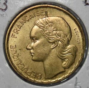 France 1953 20 Francs rooster animal BU 290016 combine