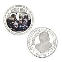WR World War WW2 1945 Yalta Conference Churchill Silver Commemorative Coin Medal