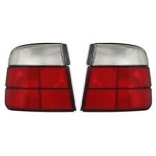 2 FEUX ARRIERE BMW SERIE 5 E34 BERLINE 02/1988 A 01/1995 BLANC ROUGE LOOK M