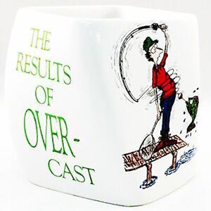 White Fishing Coffee Mug Cup Overcasting 1992
