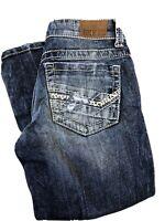Bke Buckle Womens STELLA Distressed Blue Wash Capri Jeans Size 25