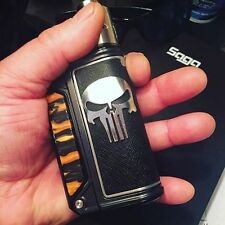 AUTHENTIC THERION LOST VAPE DNA, SILVER Battery Door Cover.THE PUNISHER EDITION.