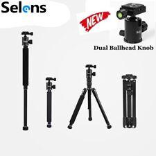 US Selens T170 2 in1 Travel Tripod &Monopod Metal Ball Head For Digital Camera